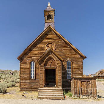 Wingsdomain Art and Photography - Ghost Town of Bodie California Methodist Church dsc4473sq