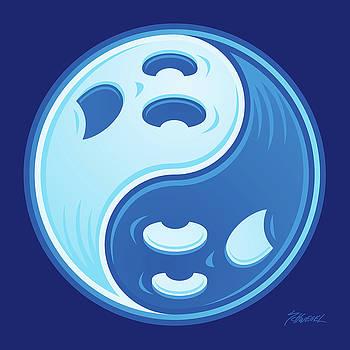 Ghost Yin Yang Symbol by John Schwegel