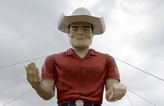 TONY GRIDER - Giant Cowboy Portrait