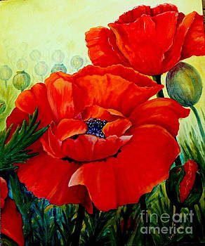 Giant Poppies 3 by Ursula Reeb
