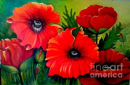 Giant Poppies by Ursula Reeb