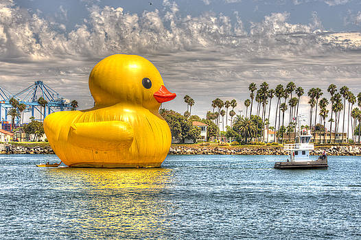 Giant Rubber Ducky Floating Down the Main Channel at the Port of Los Angeles by Zoe Schumacher