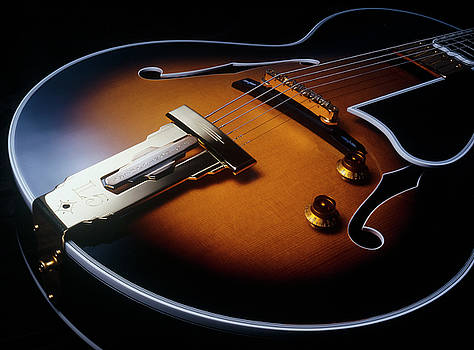Gibson Wes Montgomery L-5 Electric Guitar Closeup by Jerry McElroy
