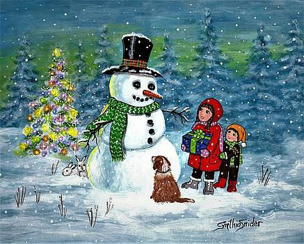 Gift For Snowman by Cynthia Snider