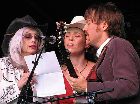 Gillian Welch and David Rawlings and Emmylou Harris by Julie Turner
