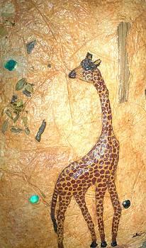 Giraffe   SOLD  by Tinsu Kasai