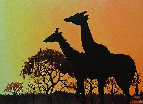 Giraffe Of The Serengeti 1 by Portland Art Creations