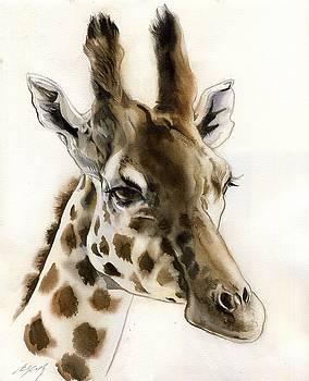 Alfred Ng - Giraffe watercolor