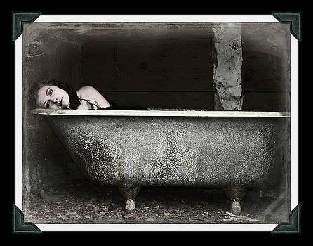 Girl in a bath tub  by Pamela Patch