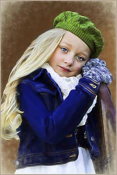 Girl In A Green Hat by Tom Schmidt