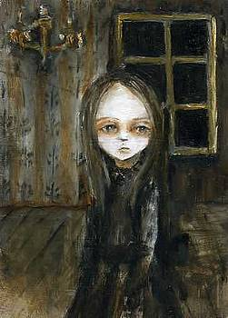 Girl in black dress by Mya Fitzpatrick