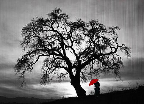Girl in Rain by Jim Kuhlmann