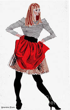 Genevieve Esson - Girl In Red Skirt