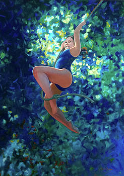 Girl on a Rope by Kevin Lawrence Leveque