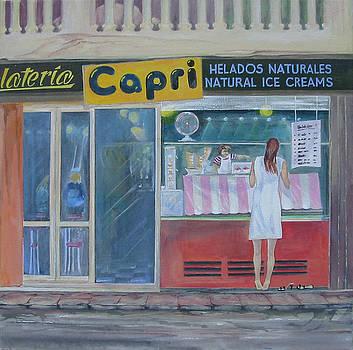 Girl waiting  by Eve Corin