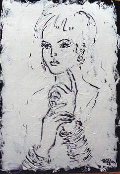 Girl with Bangles in Hand by Mohd Raza-ul Karim