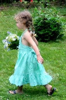 Diane Merkle - Girl with Flowers