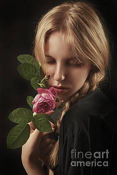 Girl With Rose by Aleksey Tugolukov