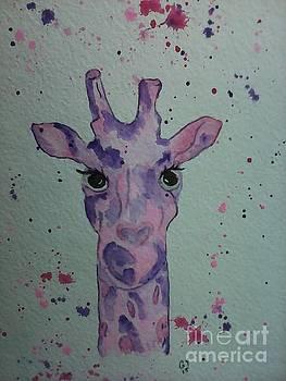 Girly Giraffe by Ginny Youngblood