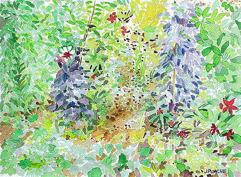 Giverney Watercolor I by Joe Roache
