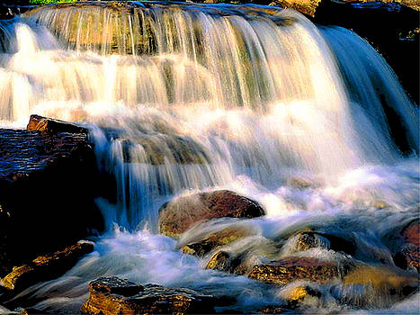 Glacier National Park Waterfall by Vicky Brago-Mitchell
