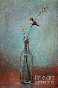 Lori  McNee - Glass Bottle and Hummingbird
