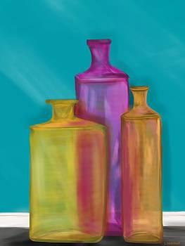 Glass bottles by Christine Fournier