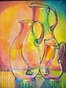 Glass Pitchers by D E Bartley
