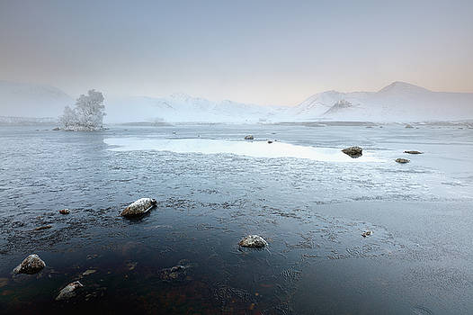 Glencoe Frozen Misty Winter Sunrise by Grant Glendinning