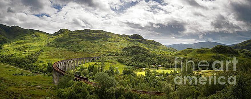 Glenfinnan Viaduct panorama by Jane Rix