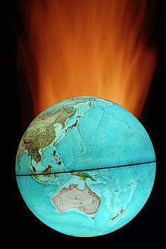 Sami Sarkis - Globe with flames