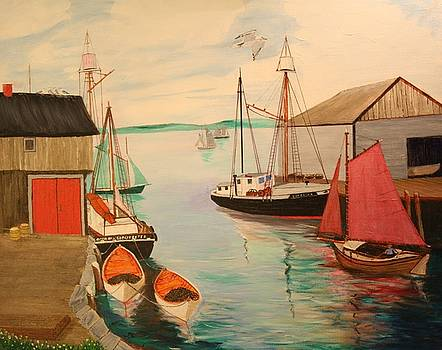 Bill Hubbard - Gloucester Harbor - Mackerel Seiners 1933