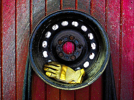 Glove and Wheel by Valerie Morrison