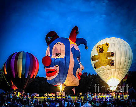 Glowing Balloons by Nick Zelinsky