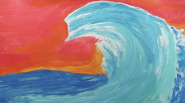Gnarly Wave  by Don Koester