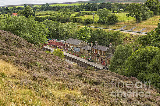 Patricia Hofmeester - Goathland railway station seen from up the moors