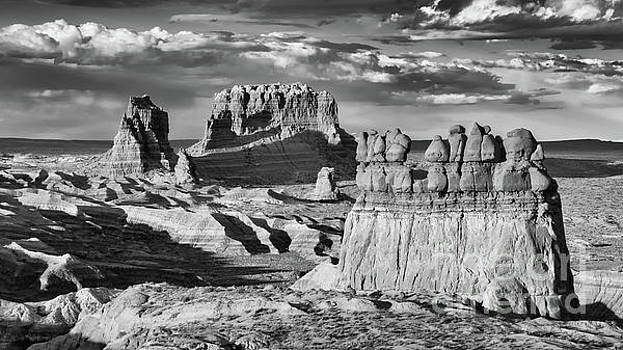 Goblin Valley No 1 bw by Jerry Fornarotto