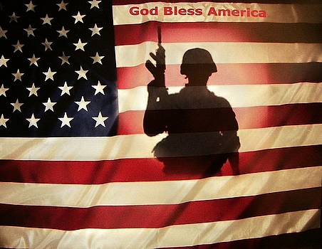 God Bless America And Our Troops by Joseph Frank Baraba