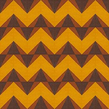 Michelle Calkins - Gold and Brown Chevron Collage