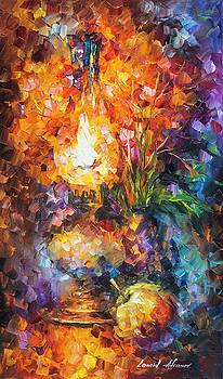 Gold Flame by Leonid Afremov