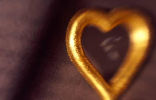 Gold Heart Mirror by Tamarra Tamarra