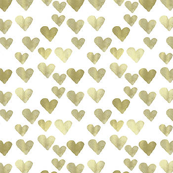 Gold Hearts by P S