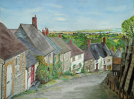 Gold Hill  Shaftesbury by Yvonne Johnstone