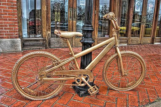 Golden Bike by Mark Orr
