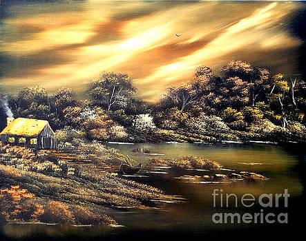 Golden Daze.SOLD by Cynthia Adams
