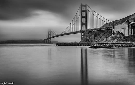 Golden Gate Black and White by Mike Ronnebeck