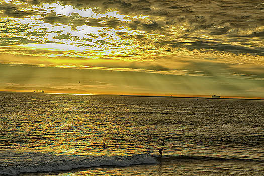 Golden Hour at Seal Beach by Tom Kelly