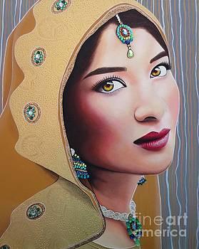 Golden Indian Bride by Malinda Prudhomme