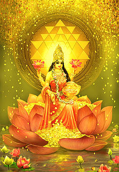 Golden Lakshmi by Lila Shravani