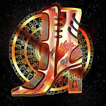 Golden Mandala High Heel by Kenal Louis